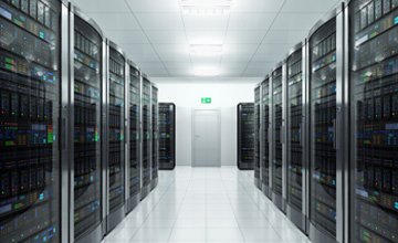Image of some servers in the rack